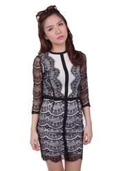 lace dress,black lace dress,black and white dress,lace,shift dress,radpopsicles,office outfits