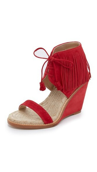 sandals wedge sandals red shoes