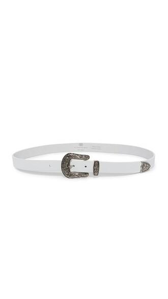 baby belt silver white