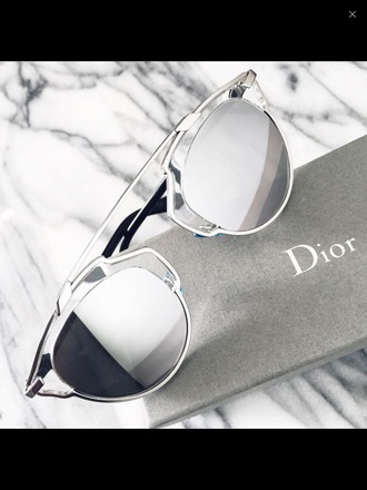 sunglasses dior sunnies mirrored sunglasses accessories accessory trendy style dope silver grey glasses fashion any color look for less summer summer accessories