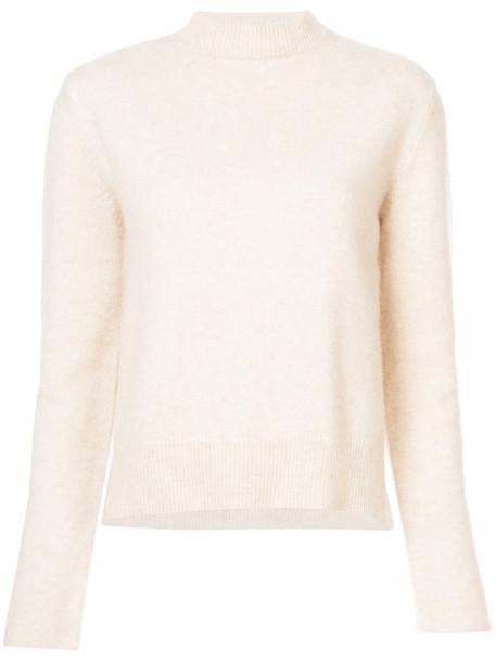 Ryan Roche jumper women nude silk sweater