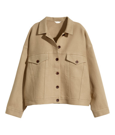 H&M Wide-cut Twill Jacket $79.95