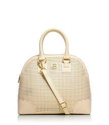 Tory Burch Robinson Perforated Small Dome Satchel  : Women's Robinson