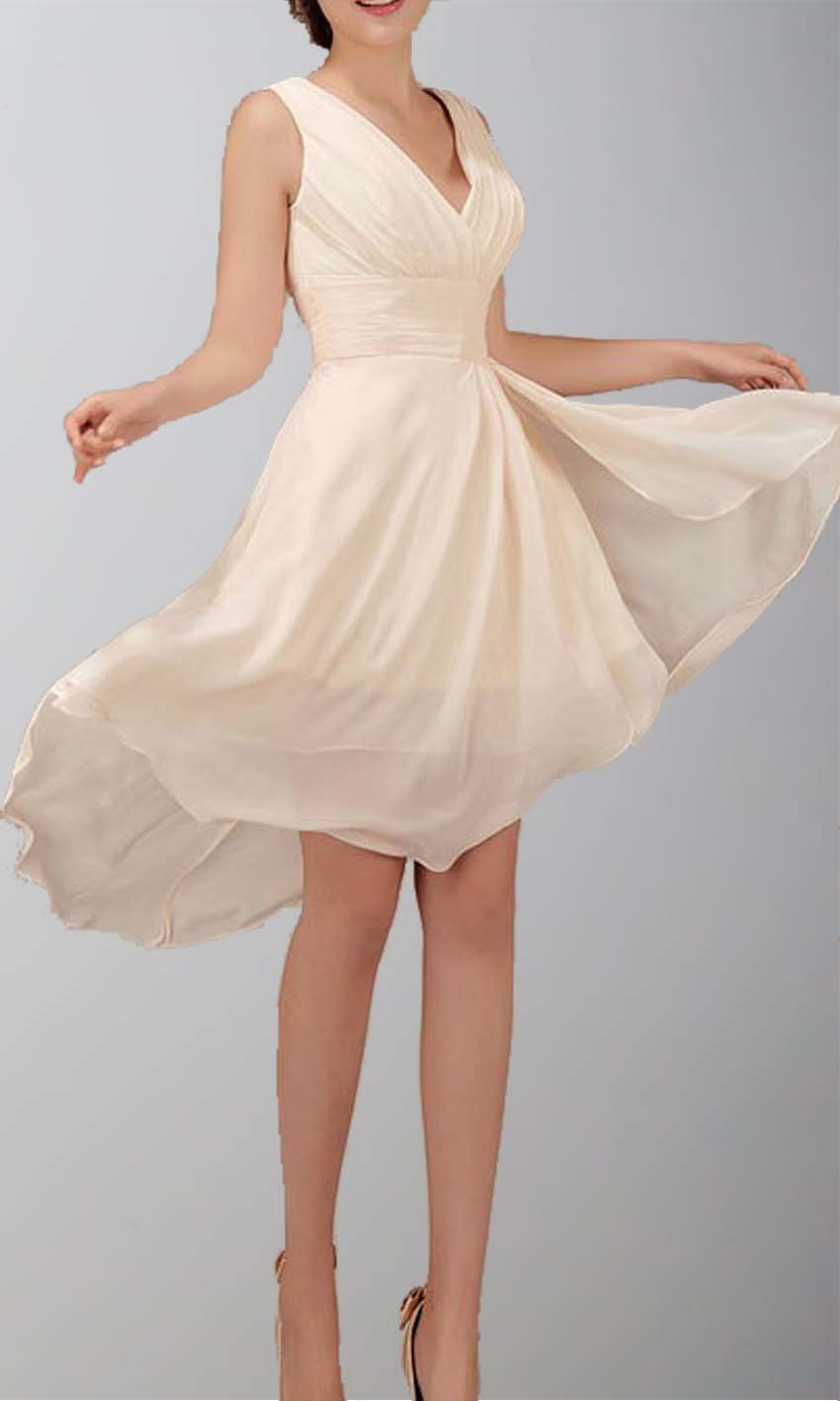 Chiffon V-neck Rrregular High Low Short Prom Dresses KSP012 [KSP012] - £78.00 : Cheap Prom Dresses Uk, Bridesmaid Dresses, 2014 Prom & Evening Dresses, Look for cheap elegant prom dresses 2014, cocktail gowns, or dresses for special occasions? kissprom.co.uk offers various bridesmaid dresses, evening dress, free shipping to UK etc.