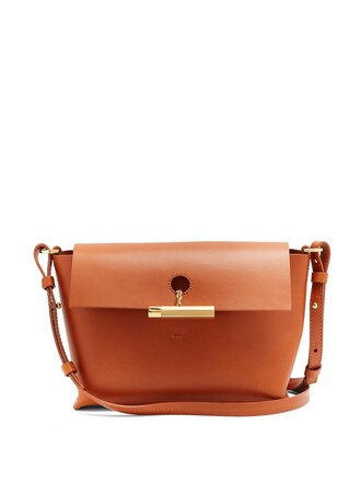 cross bag leather tan