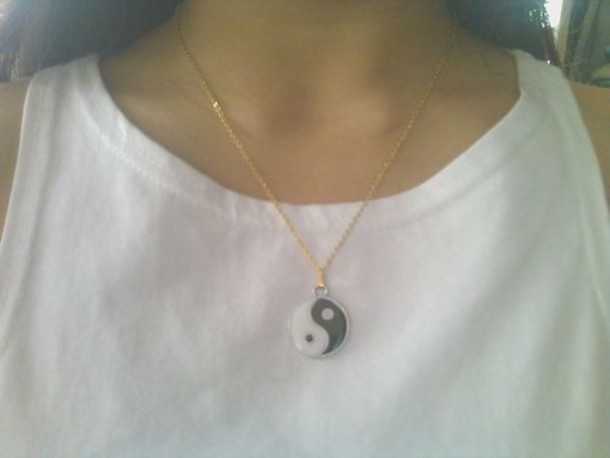 jewels yin yang religion necklace jewels black white yin yang jewelry boho chinese yin yang necklace spiritual boho necklace