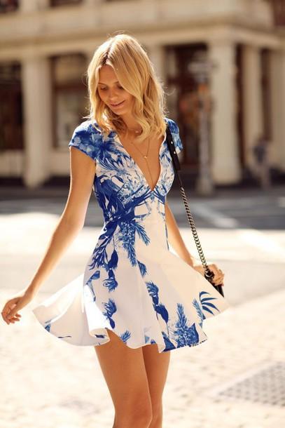 dress blue and white dress china element dress v neck dress women dress  fashion dress porcelain 3259693fea2e