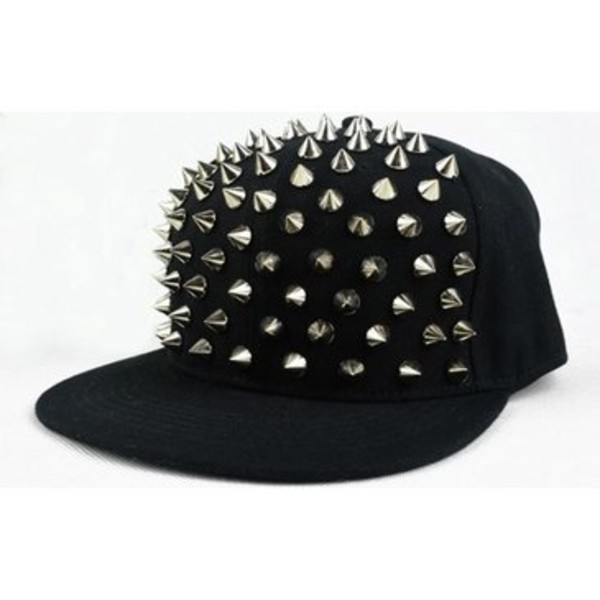 hat black peak cap hat