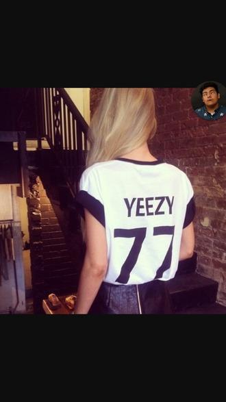 shirt yeezy jersey black and white shirt 77
