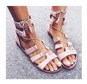 shoes,pastel,sandals,pink