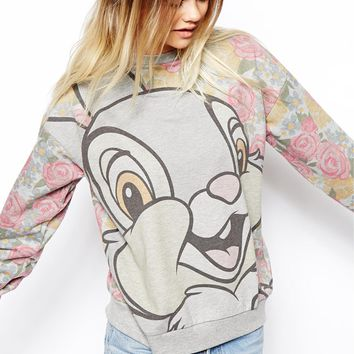 ASOS Sweatshirt with Disney Thumper Print on Wanelo