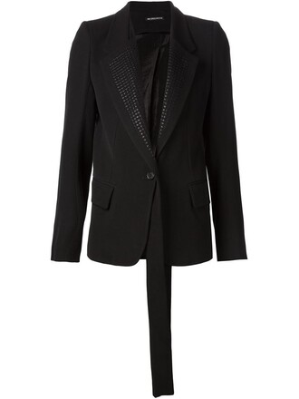 blazer embroidered black jacket