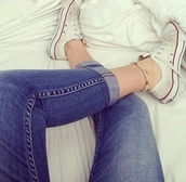 jewels,bracelets,jeans,pants,alli simpson,converse,denim,blue,strechy,comfy,cool,spring,summer,girly,hot