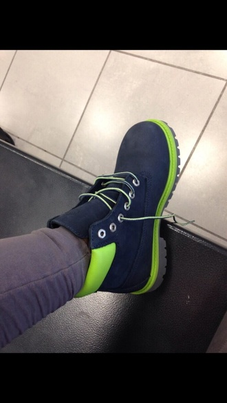 shoes timberlands navy green blouse