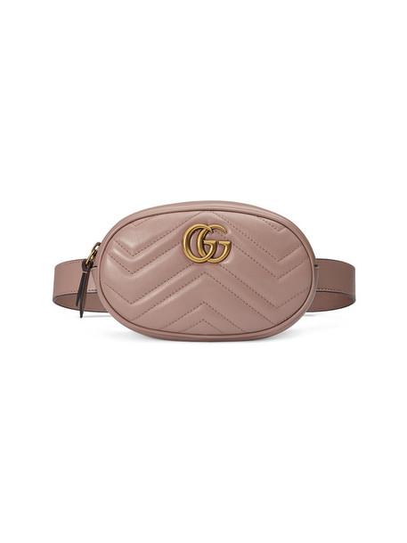 gucci belt bag metal women bag leather nude