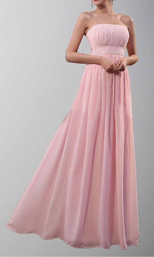 pink dress strapless wedding dresses empire waist dress pleated dress long prom dress long formal dress simple wedding dresses