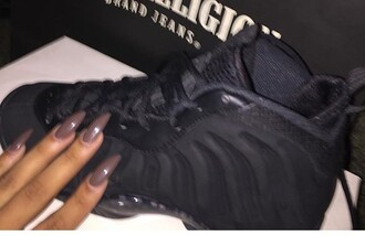 shoes foams nike black nike foamposites triple black foams