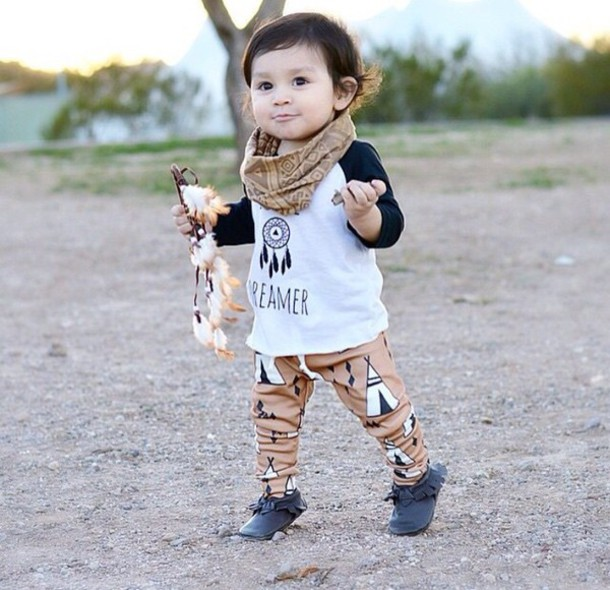 Pants Tribal Pattern Dream Catcher Shirt Grey Tepee Kids