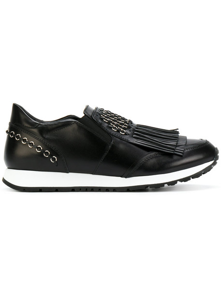 TOD'S women sneakers leather black shoes