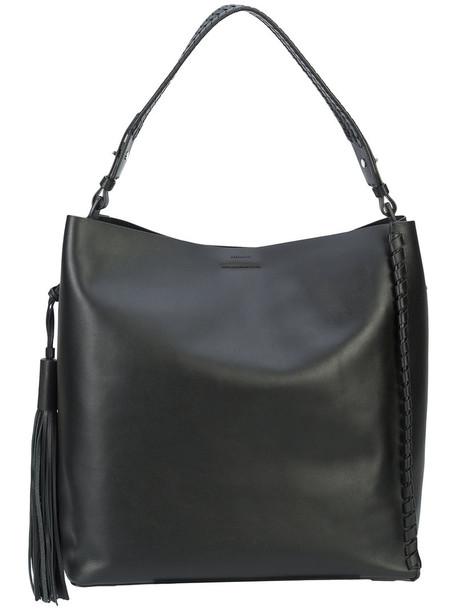 All Saints women leather black bag