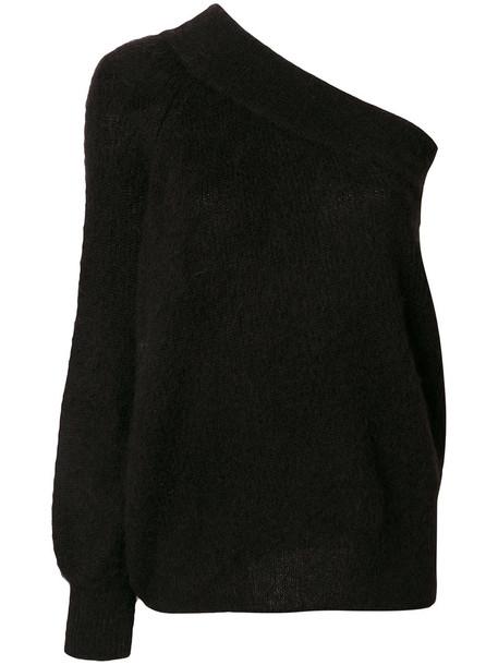 jumper women mohair black sweater
