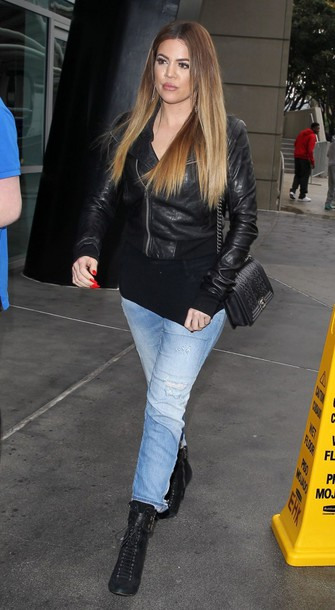 jacket khloe kardashian chanel bag