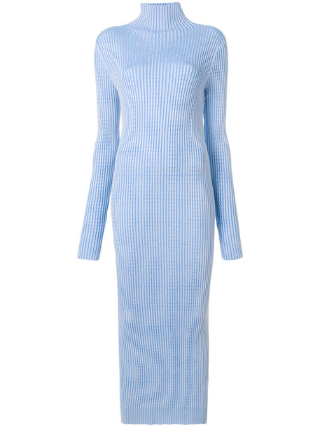 MAISON MARGIELA dress turtleneck dress women blue