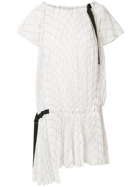 Sacai dress shirt dress women white cotton