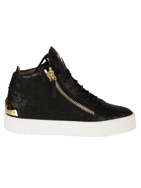 Giuseppe Zanotti sneakers crocodile black shoes