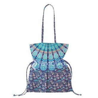 bag handbag bucket bag mandala