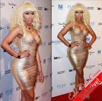 dress gol gold gold dress nicki minaj style
