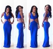 dress,open back,open backed dress,backless,long dress,sleeveless,sleeveless dress,blue dress,blue,summer,summer dress