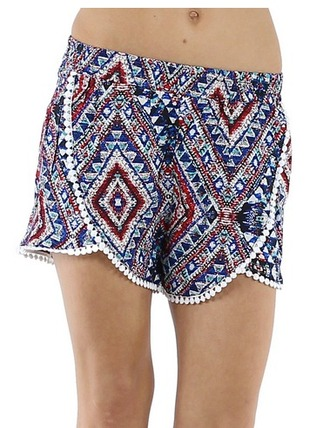 shorts ethnic aztec