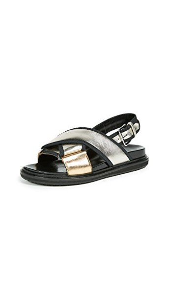 MARNI sandals light gold silver shoes