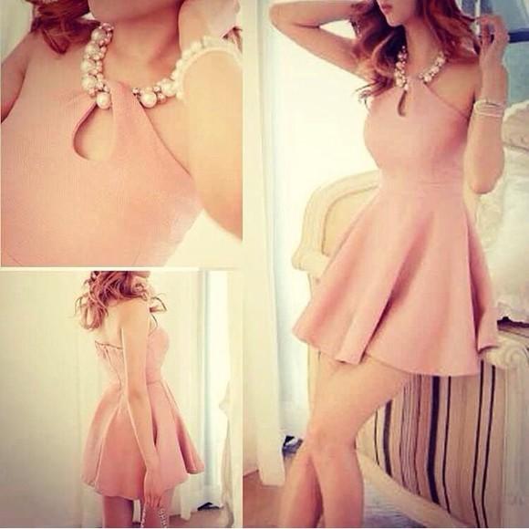 dress coral dress lovely dress bracelets style pink dress