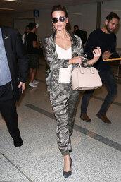 pants,camouflage,camo pants,camo jacket,top,kate beckinsale