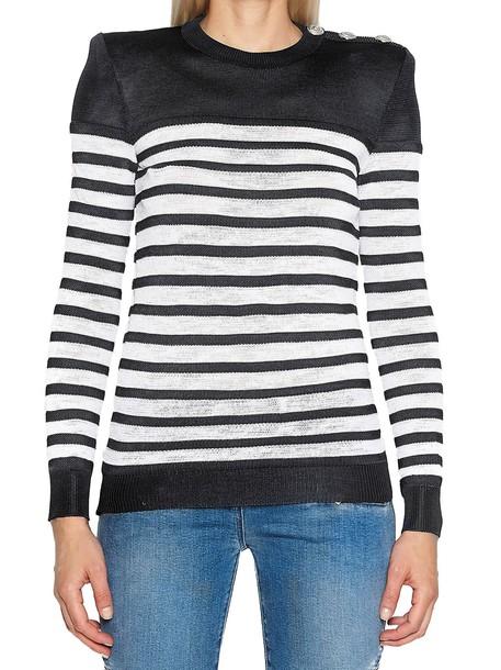 Balmain sweater white black