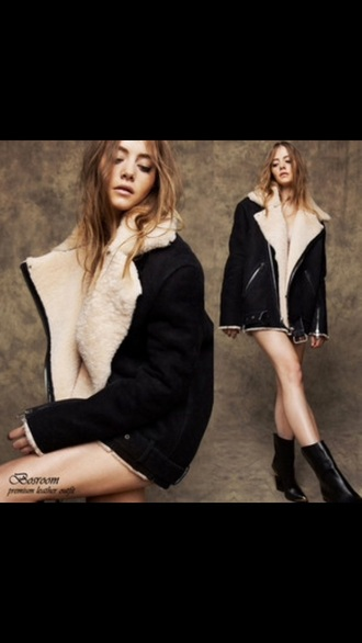 jacket sherpa jacket fur oversized girl