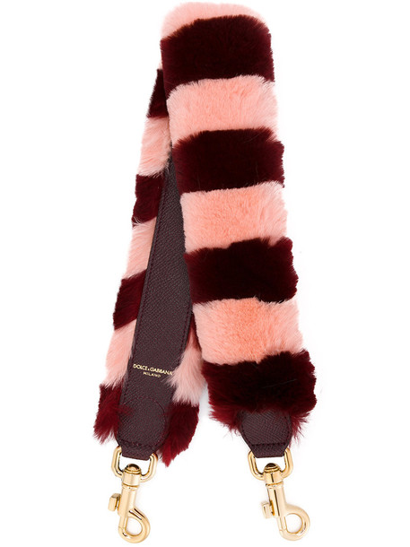 Dolce & Gabbana bag charm fur women bag purple pink