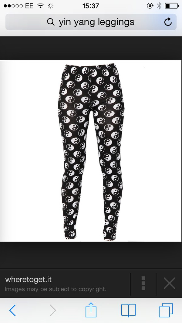 leggings ying yang leggings black and white
