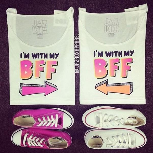 Tank top: jazrox, best friend shirts, bff, bff shirts ...