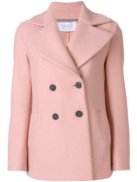 coat double breasted women wool purple pink