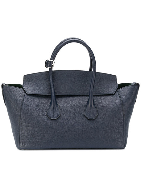 Bally women leather blue bag