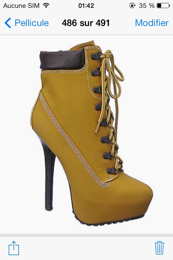 Mustard Yellow High Stiletto Heel Platform Lace Up Studded Ankle ...