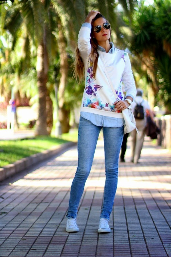 marilyn's closet blog sweater shirt jeans shoes bag