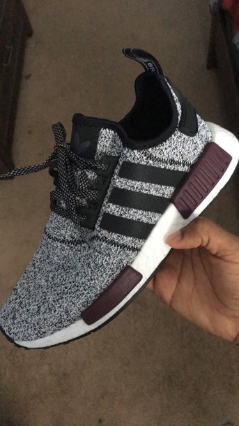 8a4cb06c5 Adidas Nmd Grey Black Burgundy kenmore-cleaning.co.uk
