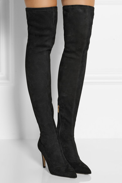 Rossi | Stretch-suede over-the-knee boots | NET-A-PORTER.COM