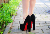 black shoes,high heels,red shoes,shoes