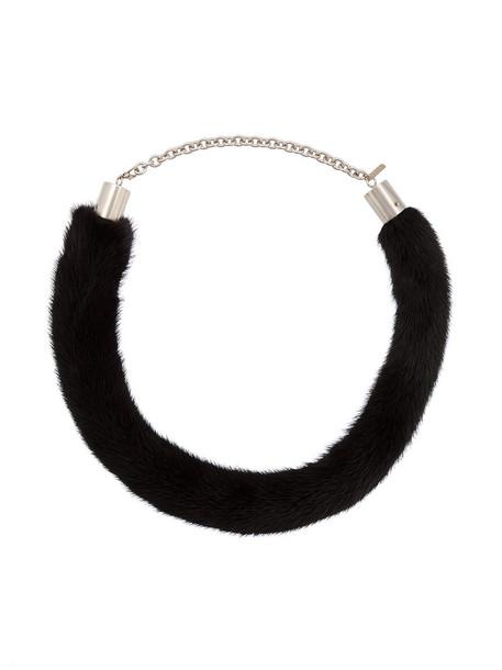 cuff fur women necklace black jewels