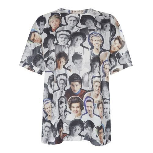 ONE DIRECTION LADIES T Shirt Tee Top 6-20 Primark HARRY LOUIS NIALL ZAYN LIAM